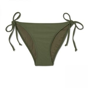 NWT Xhilaration String Bikini Bottom Small Olive